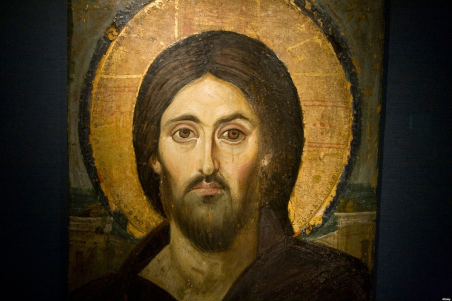 Painting of Jesus Christ in the Sacred Sacristy Museum in St Katherine Monastery on the Sinai Peninsula in Egypt. Image shot 2008. Exact date unknown.